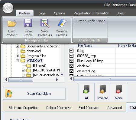 File Renamer - Rename Files with File Renamer Basic